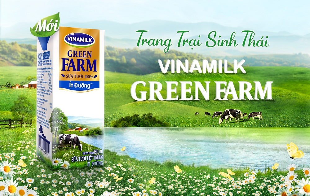 Sữa tươi từ trang trại sinh thái Vinamilk Green Farm