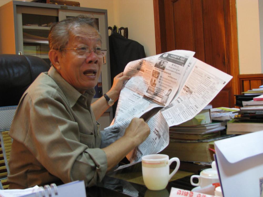 Ông Mao Ayuth là nhà sản xuất phim kỳ cựu và được mệnh danh là biên niên sử sống của điện ảnh Campuchia