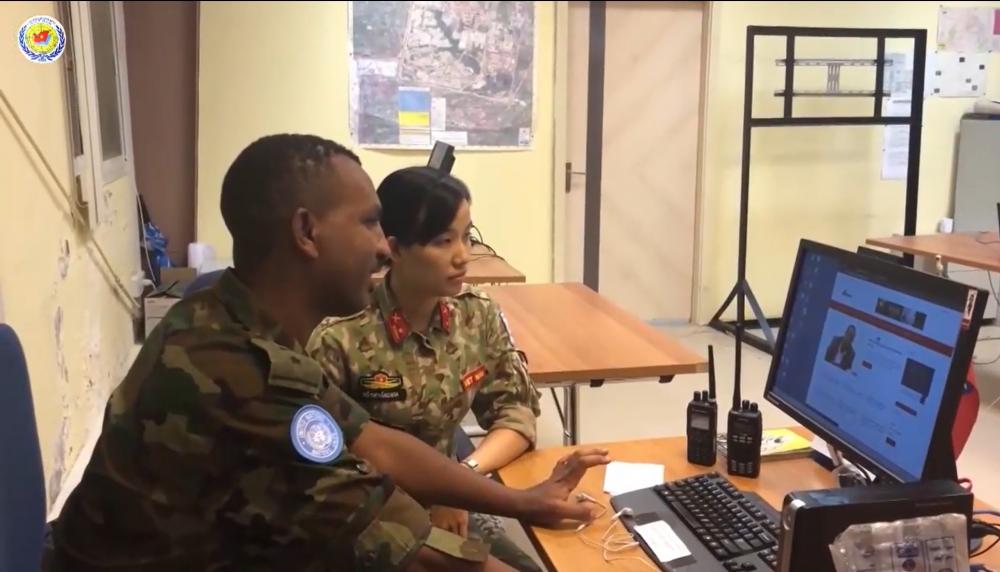 Nữ chiến sĩ LLGGHB Việt Nam làm việc tại Nam Sudan (ảnh tư liệu)