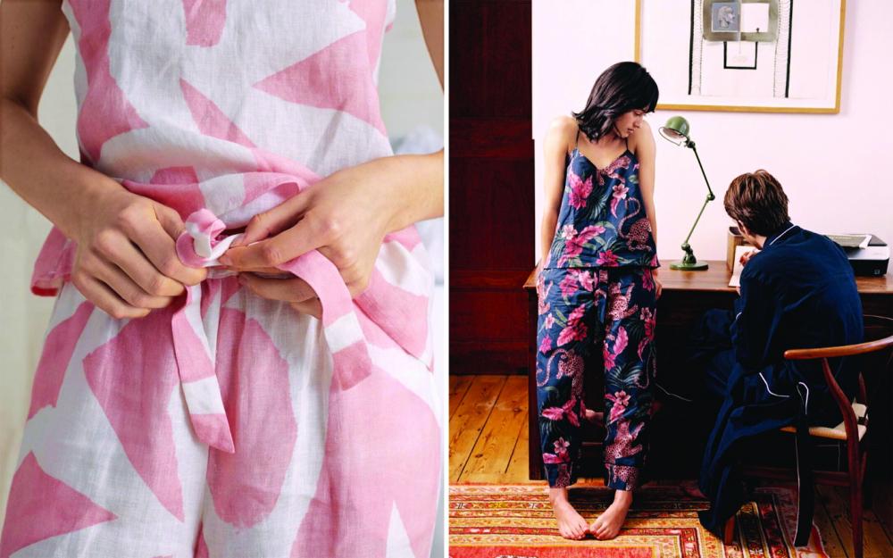 Thương hiệu Desmond & Dempsey đề cao dấu ấn kết nối gần gũi, dễ chịu và tiện ích của trang phục mặc nhà - Ảnh: Tatler