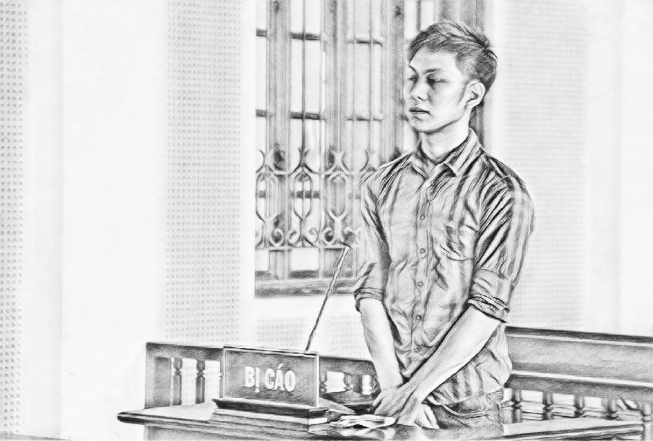 Bị cáo Quý tại phiên tòa