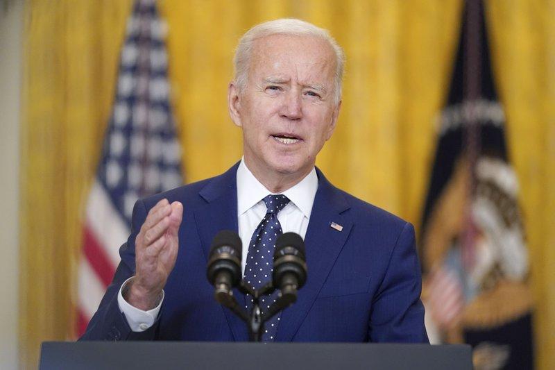 Tổng thống Joe Biden phát biểu tại Nhà trắng, ngày 15/4.