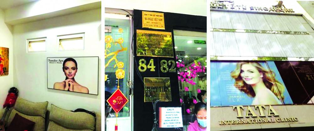 Khách hàng nên ưu tiên chọn cơ sở làm đẹp có bảng hiệu bên ngoài mặt tiền, đi kèm tên bác sĩ và số chứng chỉ hành nghề do Sở Y tế cấp