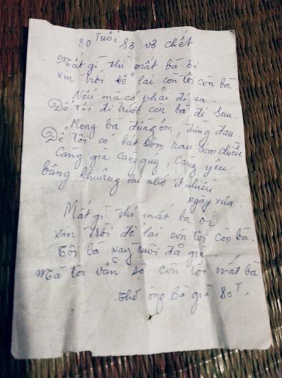 Bài thơ trên tờ lịch cũ thầy mình mà nhà báo Ngô Bá Lục chia sẻ lại.