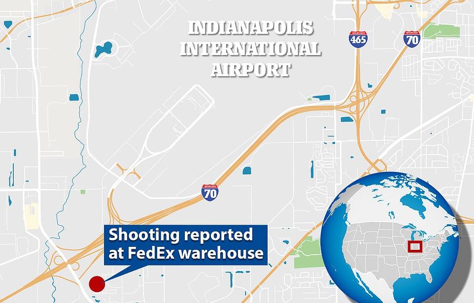 Vụ xa súng diễn ra gần sân bay quốc tế Indianapois, tại một kho chứa hàng của hãng FedEx