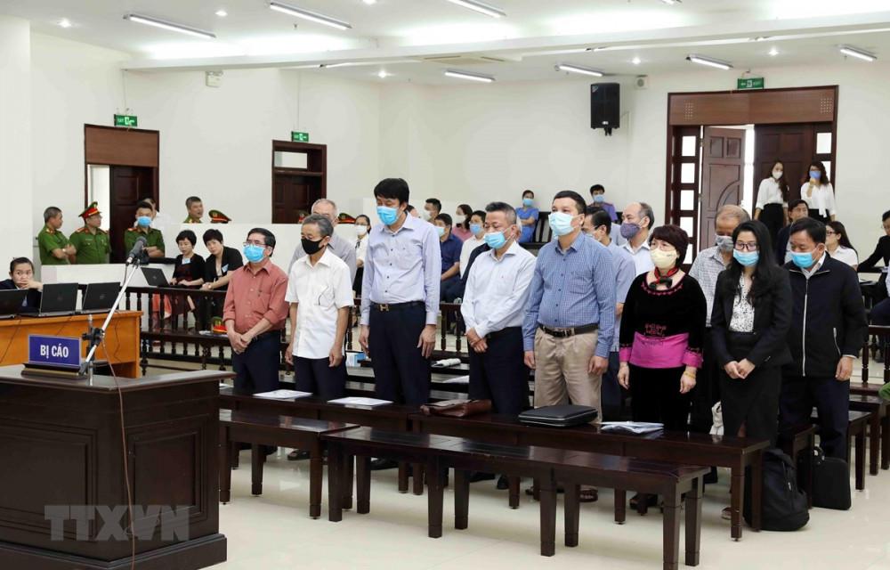 Các bị cáo trong đại án gang thép Thái Nguyên tại tòa