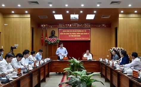 Bộ Y tế làm việc với tỉnh Kiên Giang về công tác phòng chống dịch bệnh COVID-19
