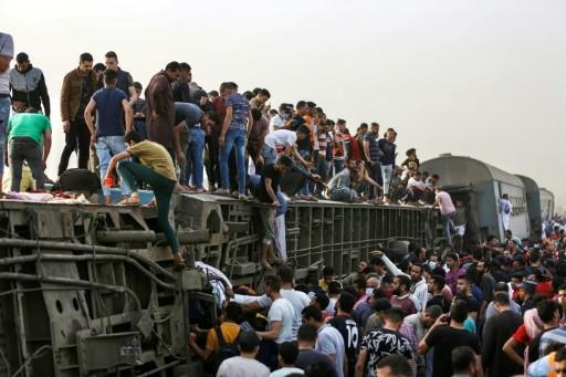 Hiện trường vụ tai nạn tàu hỏa khiến 11 người thiệt mạng.