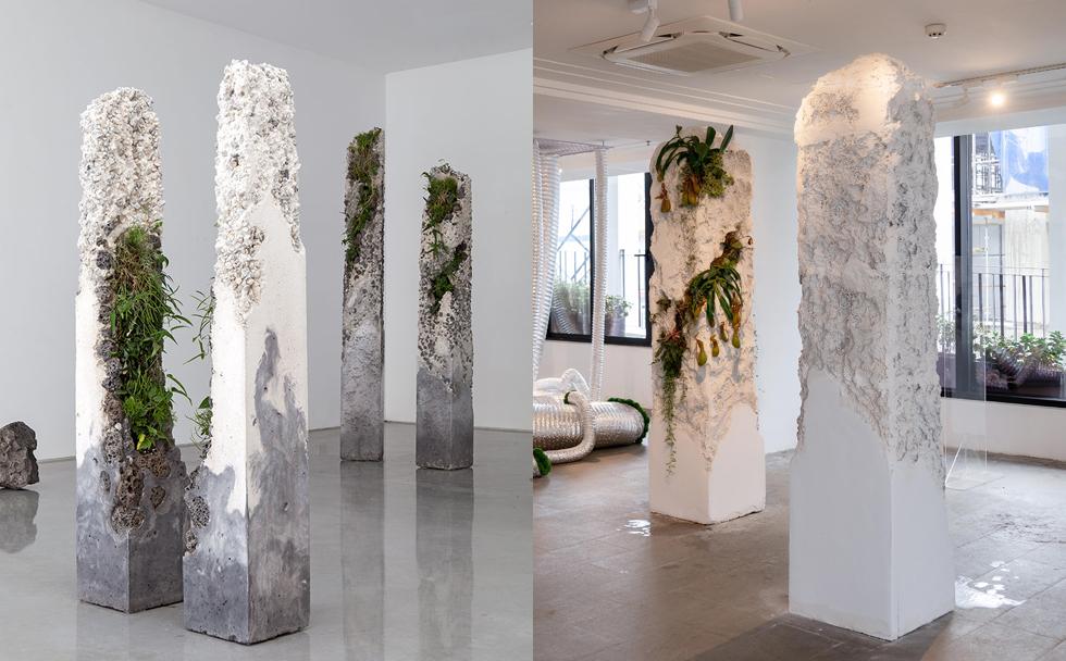 Tác phẩm trong triển lãm của Bảo Nam (phải) đạo ý tưởng từ tác phẩm của Jamie North, được giới thiệu vào năm 2014