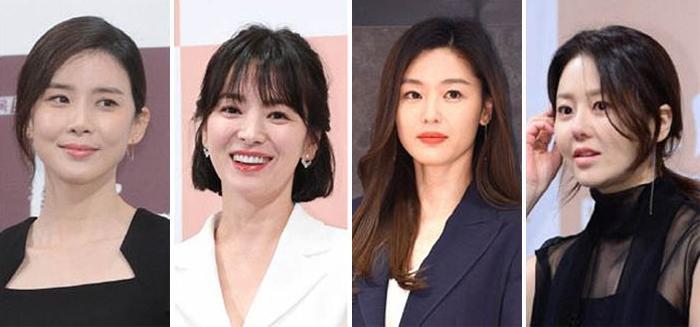 Từ trái qua, Lee Bo-young, Song Hye Kyo, Jun Ji-hyun và Go Hyun Jung