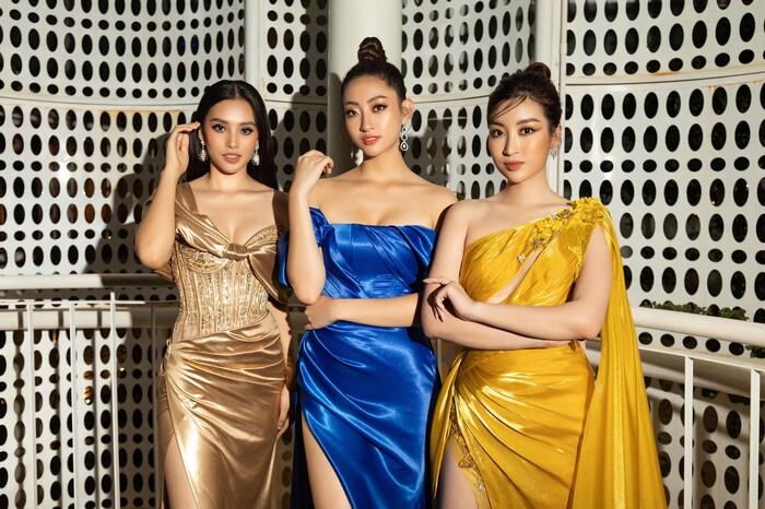 Hoa hậu Tiểu Vy (trái), Lương Thuỳ Linh (giữa) và Đỗ Mỹ Linh (phải) cũng có những dự án thiện nguyện riêng để hỗ trợ người dân dài lâu
