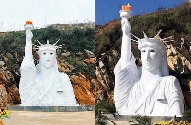 """Lập đoàn kiểm tra vụ tượng nữ thần tự do """"đột biến"""" ở Sa Pa"""