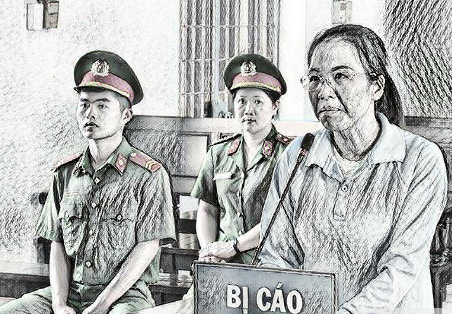 Bị cáo Tâm tại phiên tòa