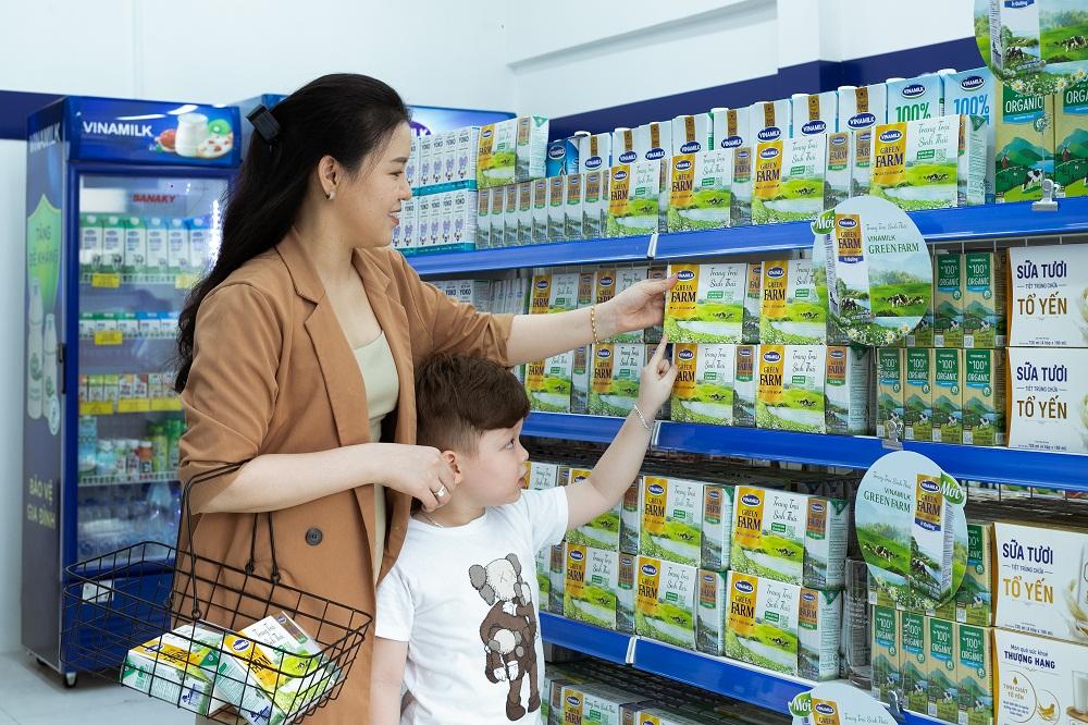 Sản phẩm sữa tươi Green Farm mới được Vinamilk giới thiệu vào đầu năm 2021 thu hút được sự quan tâm của người tiêu dùng. Ảnh: Vinamilk