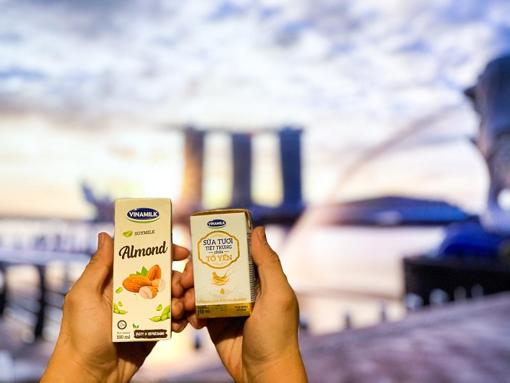 Các dòng sản phẩm mới như sữa tươi, sữa hạt được Vinamilk tích cực đẩy mạnh tại các thị trường mới như Singapore, Hàn Quốc…