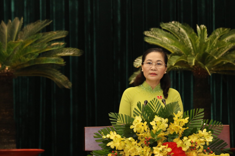 Chủ tịch HĐND TPHCM Nguyễn Thị Lệ chủ trì kỳ họp