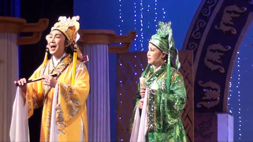 Nghệ sĩ Vũ Linh và Tài Linh kết hợp ăn ý trong vở Lương Sơn Bá Chúc Anh Đài