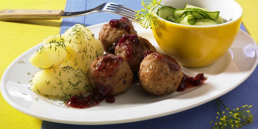 Thịt viên Köttbullar - Ảnh: hejsweden