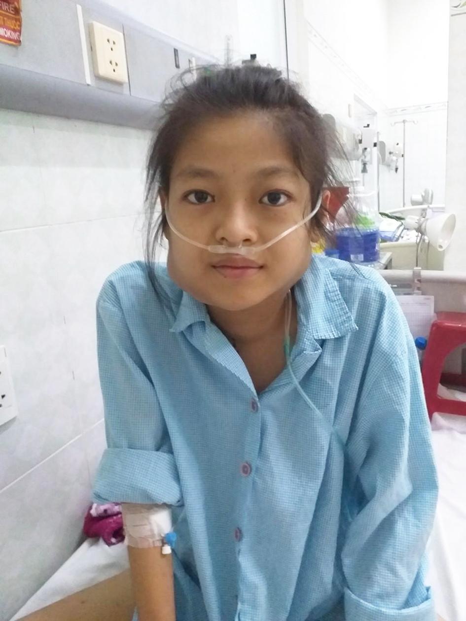 Nguyễn Thị Thu Thảo cố gắng nghĩ về ước mơ  để vượt qua những cơn đau bệnh tật