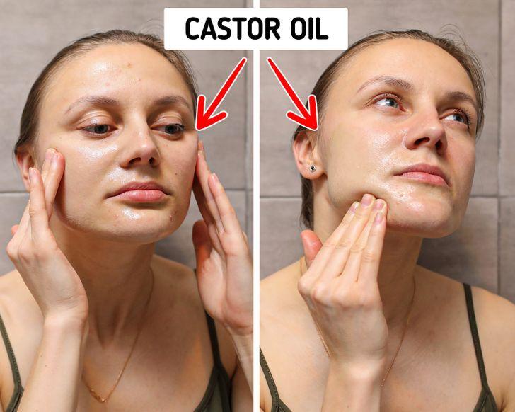 4 phút đầu tiên - làm sạch da bằng dầu: