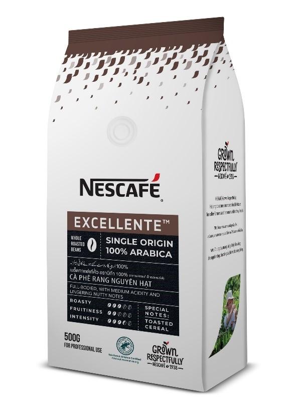 Sản phẩm NESCAFÉ Excellente 100% Arabica được cấp chứng nhận tiêu chuẩn nông nghiệp bền vững Rainforest Alliance
