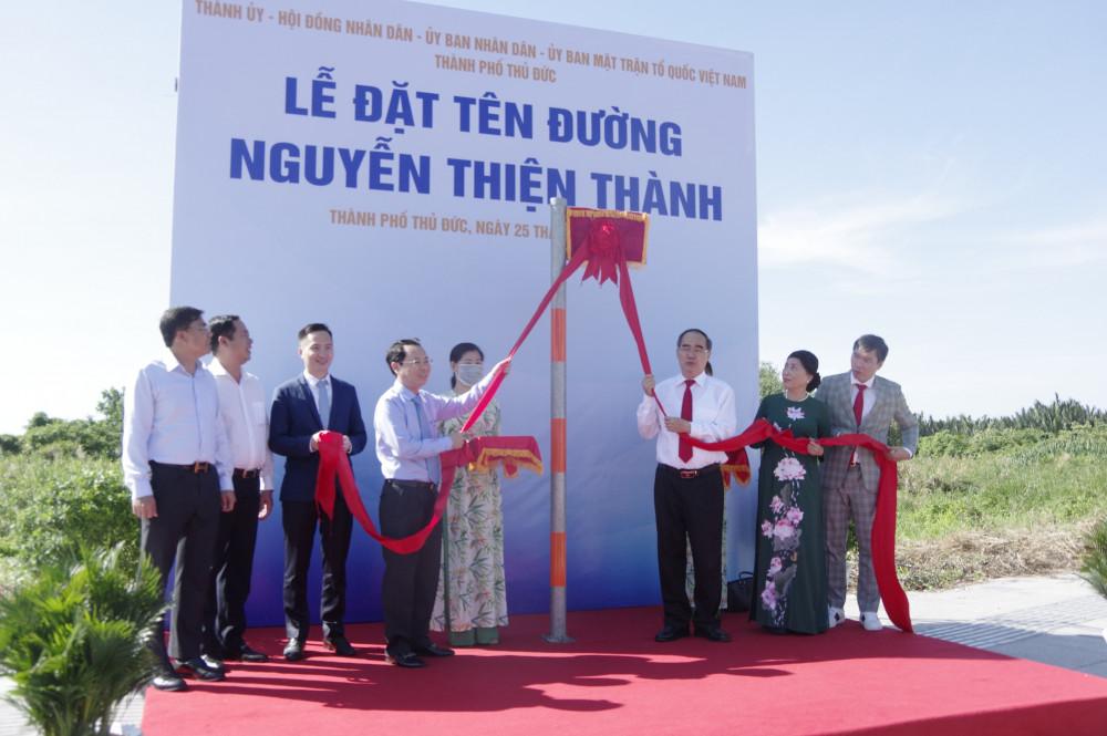 Lễ gắn tên đường Nguyễn Thiện Thành