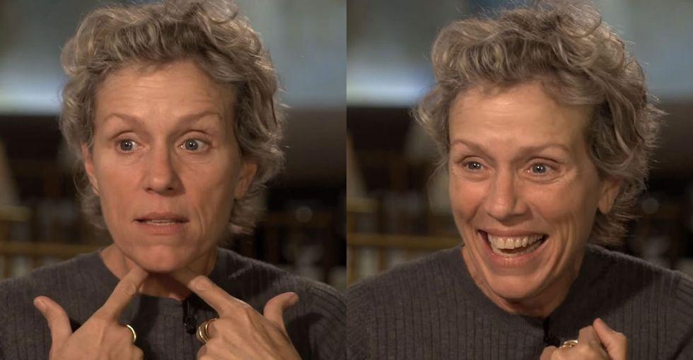 Với Frances McDormand nhưng vết tích của thời gian trên gương mặt cô đều xem như món quà