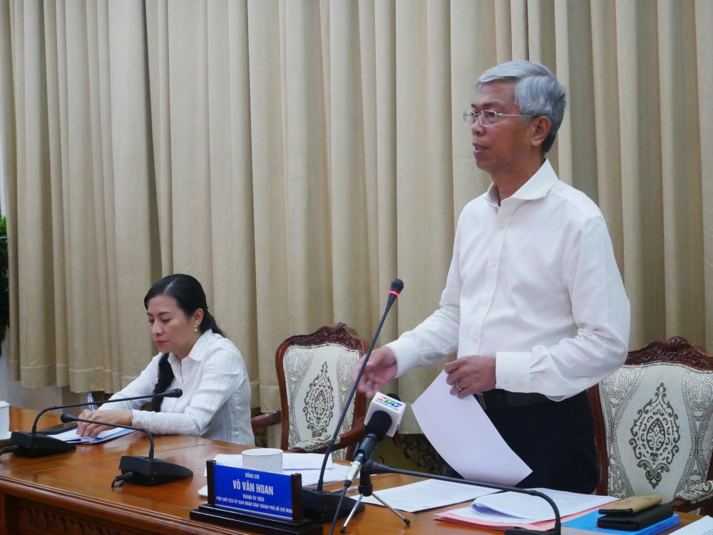 Phó chủ tịch UBND Võ Văn Hoan chủ trì cuộc họp chiều 26/4