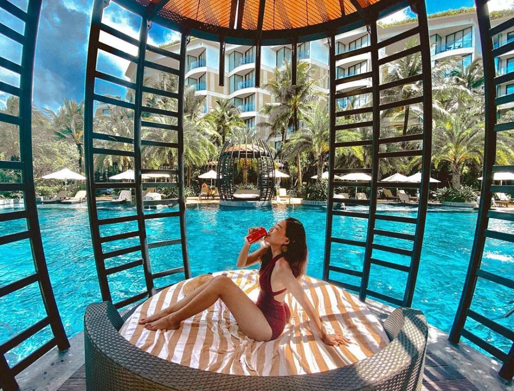 InterContinental Phú Quốc Long Beach Resort có lối kiến trúc vô cùng độc đáo. Ảnh: Traveloka