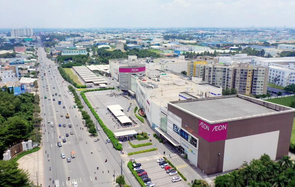 Nhiều tiện tích cao cấp trên QL13 như Aeon Mall, Lotte Mart, các bệnh viện quốc tế