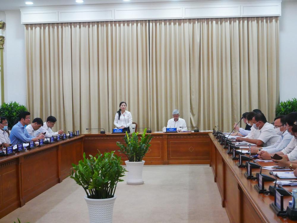 Cuộc họp sơ kết tuyên truyền xử lý tiếng ồn diễn ra chiều 26/4 do Phó chủ tịch UBND TPHCM Võ Văn Hoan chủ trì