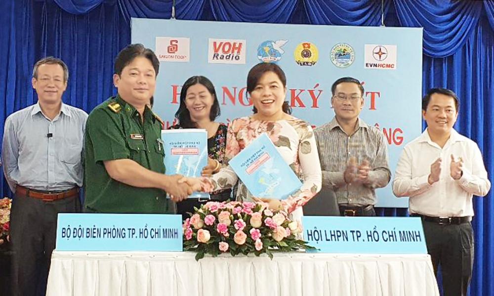 Hội LHPN TP.HCM ký kết hoạt động với các đơn vị
