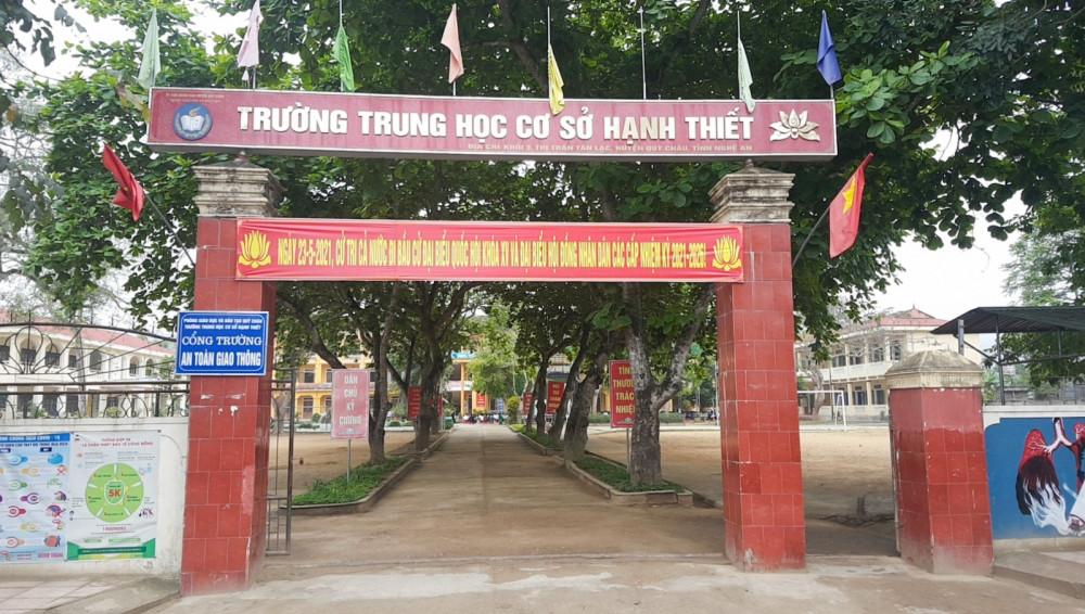 Trường THCS Hạnh Thiết, nơi Tuấn đang học