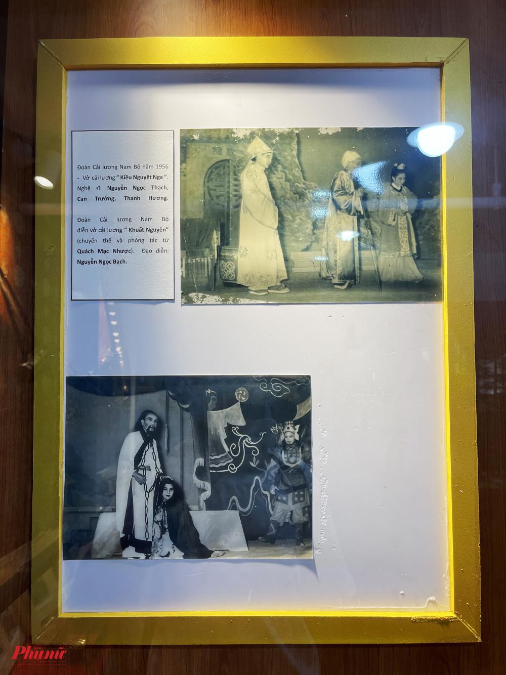 Hình ảnh quý trong hai vở diễn Kiều Nguyệt Nga và Khuất Nguyên do đoàn cải lương Nam Bộ dàn dựng cách đây hơn nửa thế kỷ.