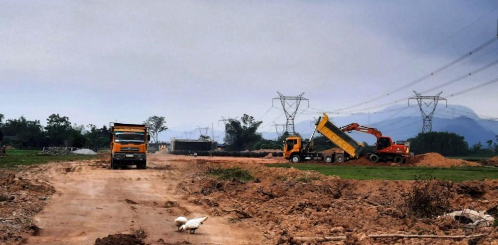 Khu vực đoạn cao tốc La Sơn - Cam Lộ nơi Anh V.V. G.  đang làm công nhân