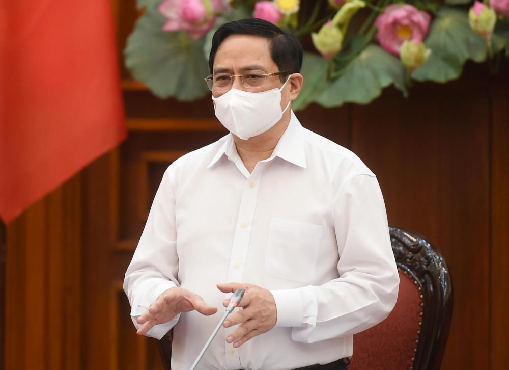 Thủ tướng Phạm Minh Chính phát biểu tại cuộc họp