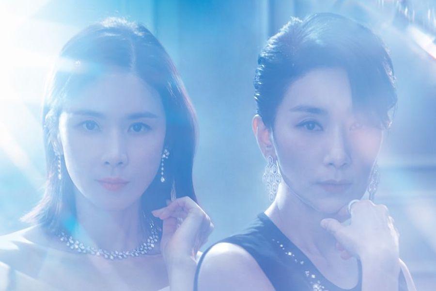 Tạo hình sang trọng của Lee Bo Young và Kim Seo Hyung.