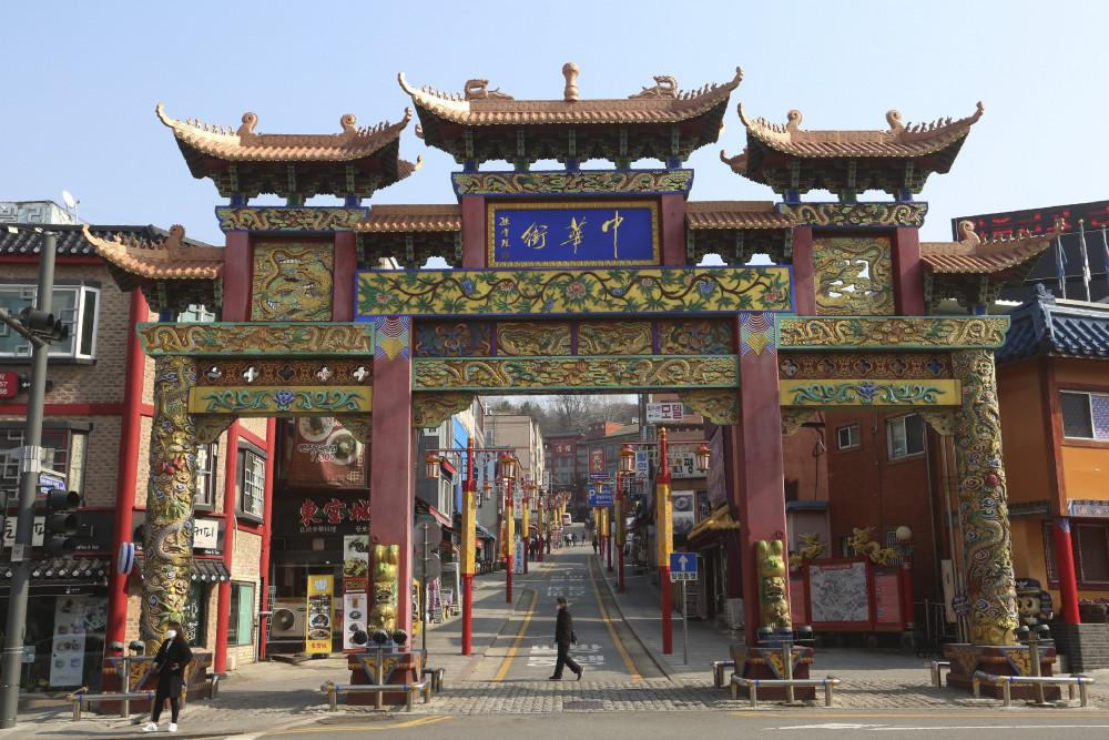Dự án xây dựng Phố văn hóa Trung-Hàn có quy mô gấp 10 lần khu phố Tàu hiện tại ở - Ảnh: AP