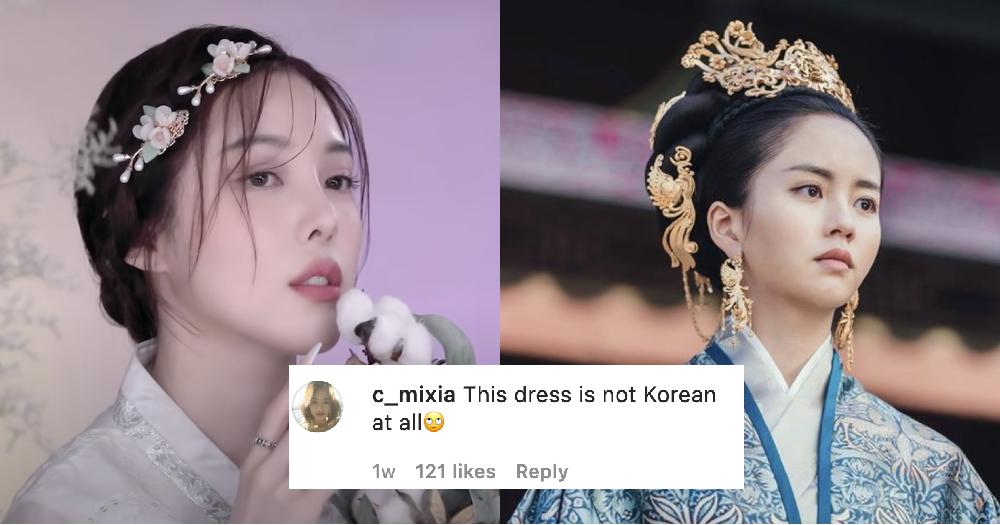 Netizen Trung Quốc cho rằng, trang phục hanbok mà người Hàn Quốc đang mặc là của Trung Quốc - Ảnh: Opera News
