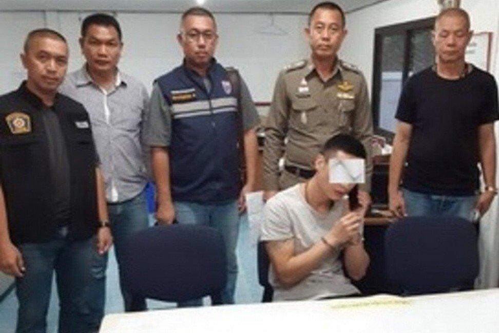 Yu Xiaodong lúc bị cảnh sát Thái Lan bắt giữ