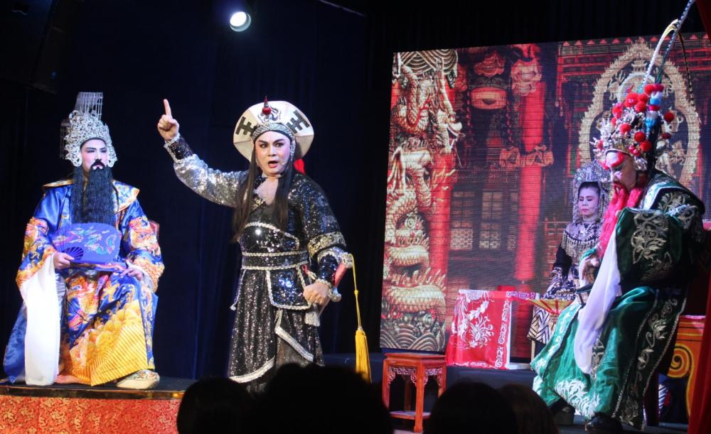 Lớp diễn Triệu Tử nhập Cam Lồ luôn được khán giả tán thưởng.