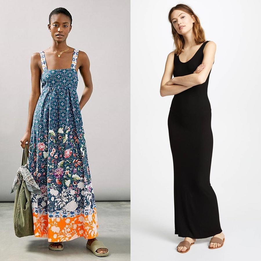 Váy dài 2 dây: