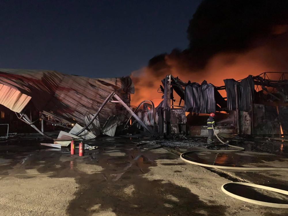 Nhà xưởng 3.000mm2 bị thiêu rụi