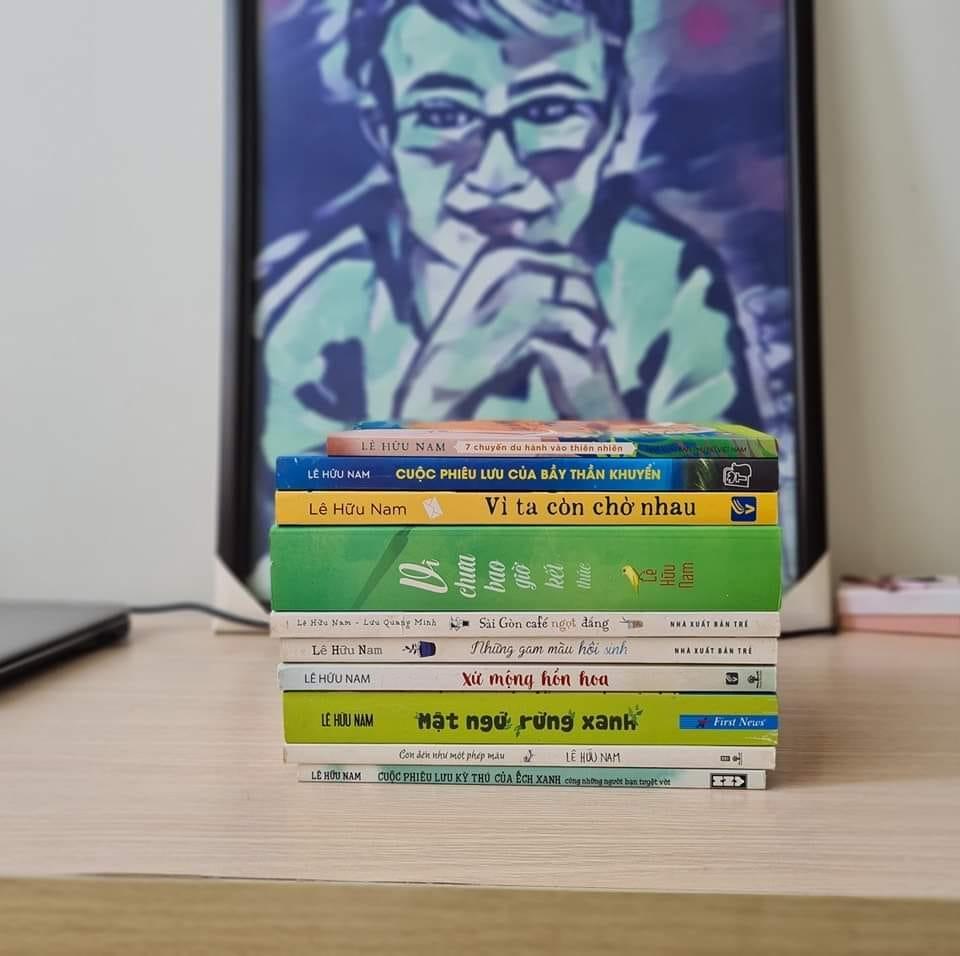 Những tác phẩm để lại của nhà văn Lê Hữu Nam. Ảnh: facebook nhân vật