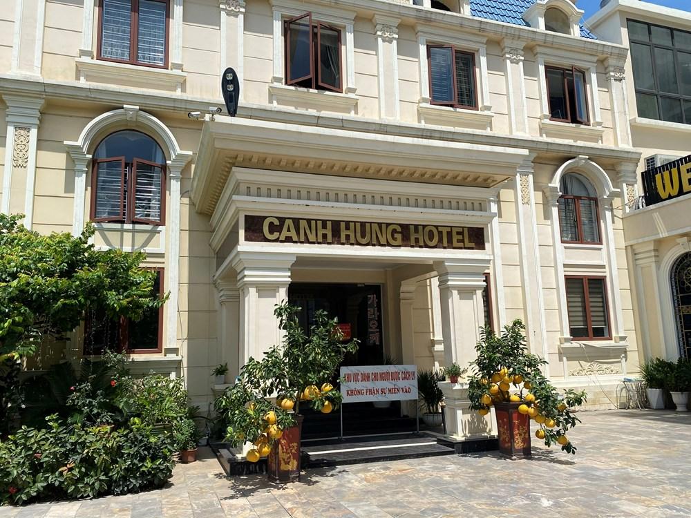 Khách sạn Cảnh Hưng (quận Hồng Bàng) nơi bệnh nhân đã thực hiện cách ly y tế.