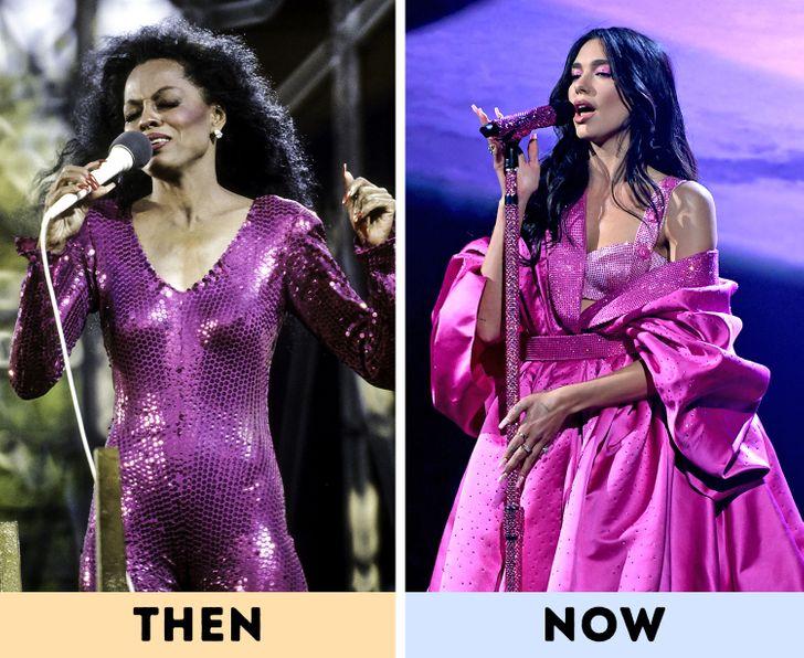 Khánh VânDiana Ross: một trận tuyết lở của sequins vào năm 2021, Dua Lipa khiến khán giả choáng váng với bộ váy màu tím tuyệt đẹp của cô tại buổi trình diễn Giải Grammy và chúng ta đã thấy ánh sáng lấp lánh màu tím đó. Trở lại năm 1983, Diana Ross mặc một bộ áo liền quần sequin có màu tương tự trong buổi biểu diễn của mình, và cô ấy trông cũng thật tuyệt. Nếu bạn xem những bức ảnh về trang phục sân khấu của Diana Ross, bạn sẽ thấy cô ấy yêu thích sequins như thế nào, với đủ hình dạng và màu sắc của chúng.