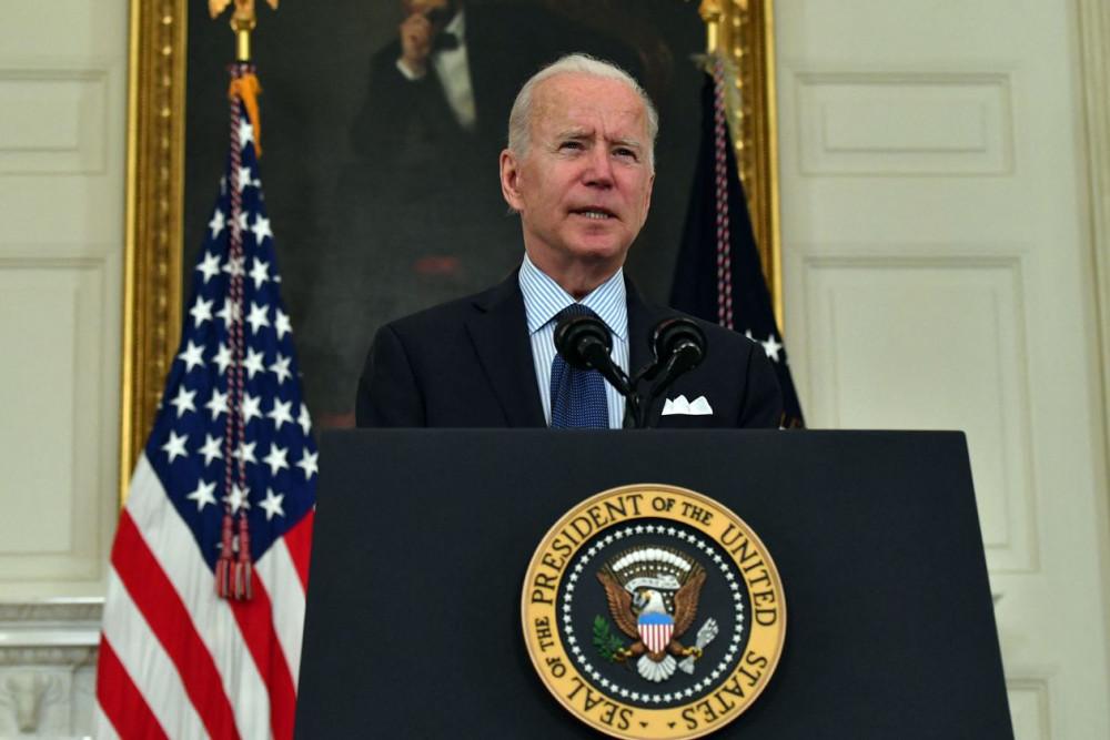 Tổng thống Biden phát biểu về chương trình tiêm chủng COVID-19 hôm thứ Ba tại Nhà Trắng.