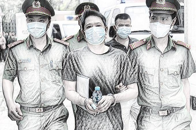 Bị cáo Bùi Quốc Việt tại tòa