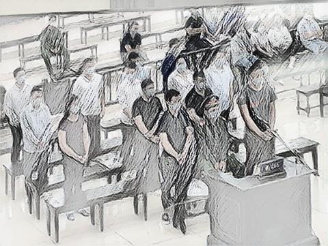 Các bị cáo trong vụ đại án Nhật Cường