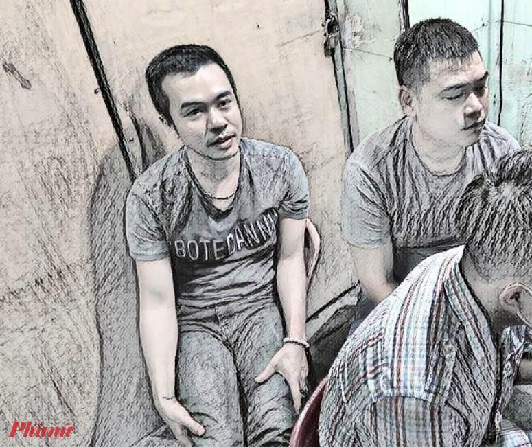 Huy và Vinh bị bắt khi đang tổ chức đánh bạc